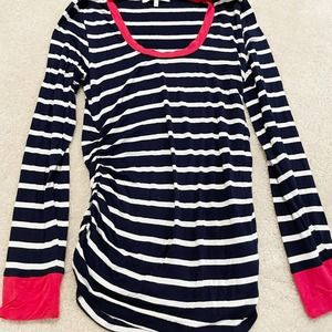 Expected Maternity Stripe long Sleeve Top Large